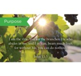 Scripture Cards, Purpose, John 15:5, Pack 25
