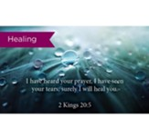 Scripture Cards, Healing, Kings 20:5, Pack 25