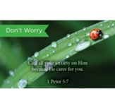 Scripture Cards, Don't Worry, 1 Peter 5:7, Pack 25
