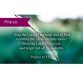 Scripture Cards, Praise, Psalms 103:12, Pack 25