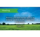 Scripture Cards, Healing, 3 John 1:2, Pack 25