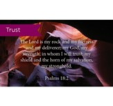 Scripture Cards, Trust, Psalms 18:2, Pack 25