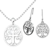 Tree Of Life Pendant and Earrings Set