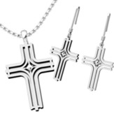 Radiant Cross, Pendant and Earrings Set