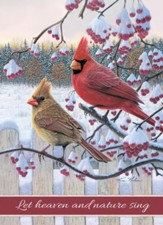 Songbird Winter Cardinals, Boxed Christmas Cards