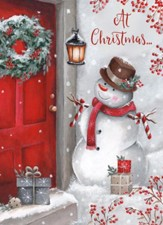 Snowman at the Door, Boxed Christmas Cards