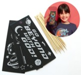 To Mars and Beyond: Scratch Art Bookmark Craft Kit (Pkg. of 12)