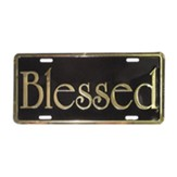 Blessed, Auto Tag Frame, Gold