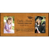Personalized, Double Photo Frame, Graduation, Cherry,  4X6