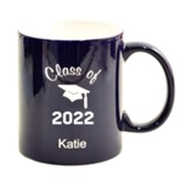 Personalized, Ceramic Mug, Graduation, Dark Blue
