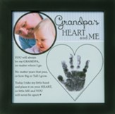 Grandpa, Hand In Heart Photo Frame