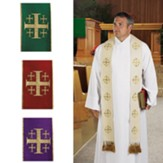Jerusalem Cross Overlay Stoles, Set of 4
