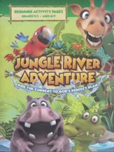 Jungle River Adventure: Beginner Activity Pages with Stickers