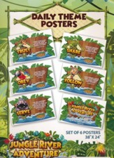 Jungle River Adventure: Daily Theme Posters