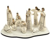 Scriptured Nativity Set with Base