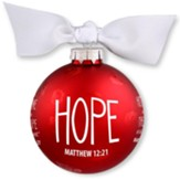 Hope, Christmas Bulb With Ribbon