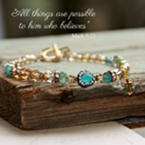 All Things Are Possible Crystal Beaded Bracelet, Multi Colored