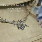 For We Walk By Faith Bird Dainty Necklace