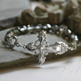 Vintage Cross, Beaded Bracelet