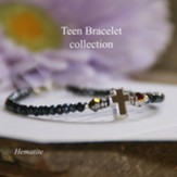 Teen Prayer Bracelet Hematite