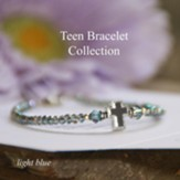 Teen Prayer Bracelet Light Blue