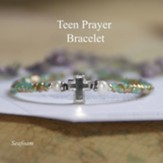 Teen Prayer Bracelet Aqua