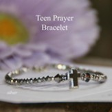 Teen Prayer Bracelet Light Hematite