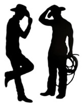 GiddyUp Junction: Cowboy Silhouettes (pkg. of 2)