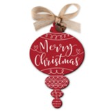 Merry Christmas, Red Rustic Ornament