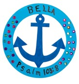 Big Fish Bay: Nautical Anchor Plaques Craft (pkg. of 24)