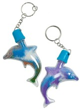 Big Fish Bay: Dolphin Sand Art Keychains (pkg. of 12)