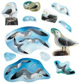 Big Fish Bay: Seagull Cutouts (set of 12)