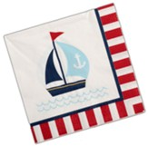 Big Fish Bay: Spiffy Sailor Napkins (pkg. of 16)