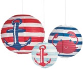 Big Fish Bay: Bayside Paper Lanterns (pkg. of 3)