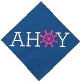 Big Fish Bay: Ahoy Beverage Napkins (pkg. of 16)