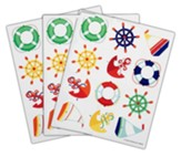 Big Fish Bay: Nautical Shape Stickers (pkg. of 72)