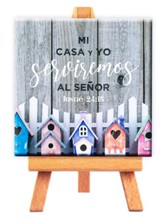 Mi casa y yo serviremos al Señor, Mini lienzo (As for Me and My House, Mini Canvas Print)