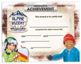 Alpine Ascent: Certificates of Achievement (pkg. of 25)