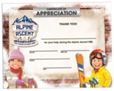 Alpine Ascent: Certificates of Appreciation (pkg. of 10)