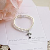 Pearl Bracelet with Crucifix Charm