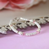 Pearls and Pink Crystals Bracelet
