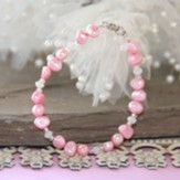 Freshwater Pink Pearl and Crystals Bracelet