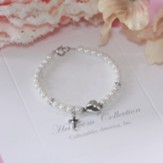 My Heart Belongs to Jesus Pearl and Heart Bracelet, 5 Inches