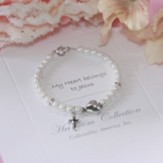 My Heart Belongs to Jesus Pearl and Heart Bracelet, 6 Inches