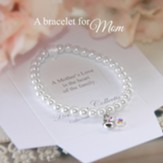 Mothers Love Pearl, Pink Crystal and Heart Bracelet