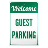 Welcome Guest Parking Church Parking Sign
