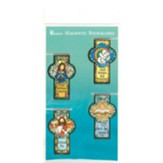 Mosaic Cross Magnet Bookmarks, Set of 4