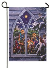 Light From Within, Stained Glass Nativity, Flag, Small