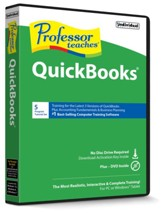 Professor Teaches QuickBooks 2018 on CD-ROM