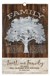 2020 Faith and Family Large Wall Calendar